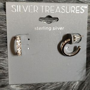 Sterling silver Diamond accent Earring
